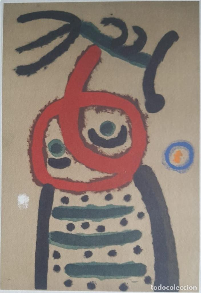 Art: JOAN MIRÓ GRABADO ORIGINAL FIRMADO A LAPIZ,E.A.,Femme et oiseau,29.5x20 CMS - Foto 3 - 146866394