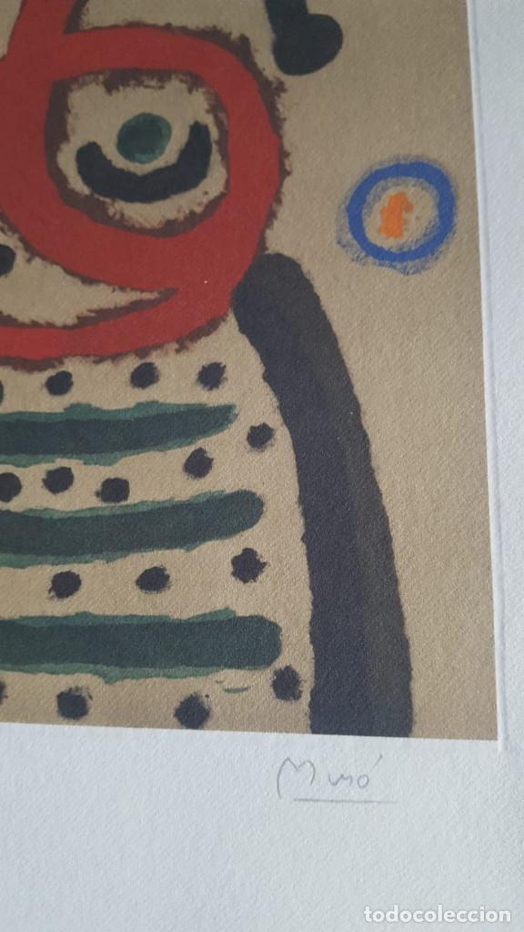 Art: JOAN MIRÓ GRABADO ORIGINAL FIRMADO A LAPIZ,E.A.,Femme et oiseau,29.5x20 CMS - Foto 5 - 146866394