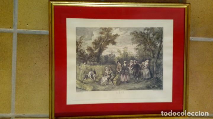 Arte: NICOLÁS LANCRET (FRANCIA, 1690-1743) LAS CUATRO ESTACIONES. SIGLO XVIII. CONJUNTO DE CUATRO GRABADOS - Foto 2 - 145165310