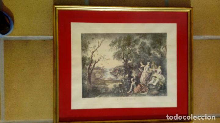 Arte: NICOLÁS LANCRET (FRANCIA, 1690-1743) LAS CUATRO ESTACIONES. SIGLO XVIII. CONJUNTO DE CUATRO GRABADOS - Foto 3 - 145165310