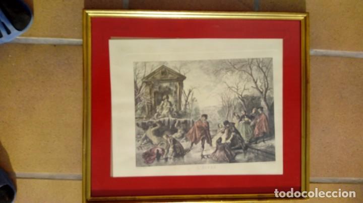 Arte: NICOLÁS LANCRET (FRANCIA, 1690-1743) LAS CUATRO ESTACIONES. SIGLO XVIII. CONJUNTO DE CUATRO GRABADOS - Foto 4 - 145165310