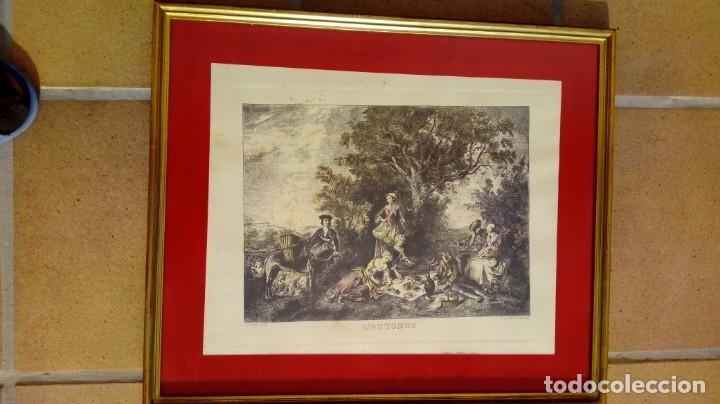 Arte: NICOLÁS LANCRET (FRANCIA, 1690-1743) LAS CUATRO ESTACIONES. SIGLO XVIII. CONJUNTO DE CUATRO GRABADOS - Foto 5 - 145165310