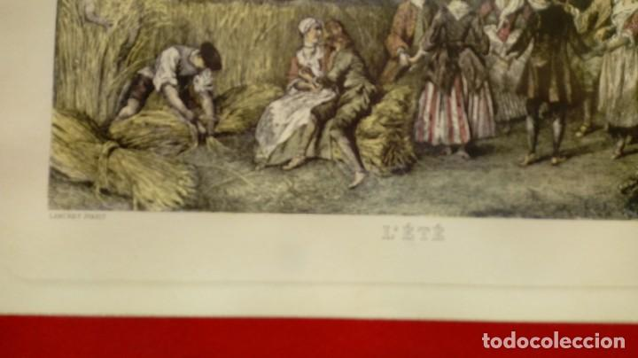 Arte: NICOLÁS LANCRET (FRANCIA, 1690-1743) LAS CUATRO ESTACIONES. SIGLO XVIII. CONJUNTO DE CUATRO GRABADOS - Foto 6 - 145165310