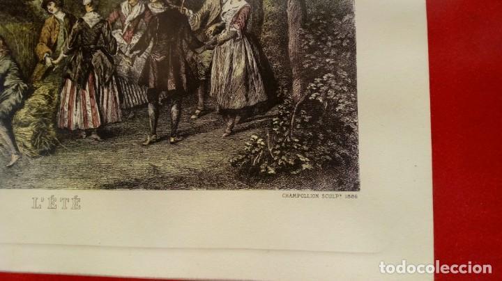 Arte: NICOLÁS LANCRET (FRANCIA, 1690-1743) LAS CUATRO ESTACIONES. SIGLO XVIII. CONJUNTO DE CUATRO GRABADOS - Foto 7 - 145165310