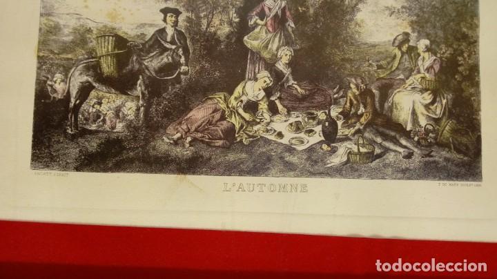 Arte: NICOLÁS LANCRET (FRANCIA, 1690-1743) LAS CUATRO ESTACIONES. SIGLO XVIII. CONJUNTO DE CUATRO GRABADOS - Foto 8 - 145165310