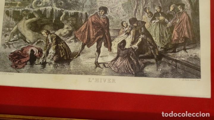 Arte: NICOLÁS LANCRET (FRANCIA, 1690-1743) LAS CUATRO ESTACIONES. SIGLO XVIII. CONJUNTO DE CUATRO GRABADOS - Foto 9 - 145165310