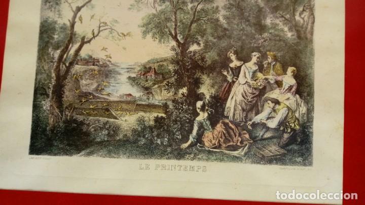 Arte: NICOLÁS LANCRET (FRANCIA, 1690-1743) LAS CUATRO ESTACIONES. SIGLO XVIII. CONJUNTO DE CUATRO GRABADOS - Foto 10 - 145165310