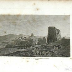 Arte: WILLIAM ANGUS. GRABADO AL COBRE. XIX. THE TEMPLE OF APOLLINOPOLIS MAGNA AT EDFU. HOPKINS. 1814.. Lote 132928842