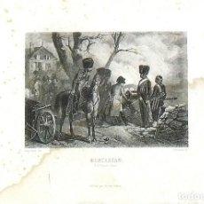 Arte: EUGENE LAMY. GRABADO AL ACERO DEL SIGLO XIX. NAPOLÉON AT MONTEREAU. FURNE PARIS. BLANCHARD SC.. Lote 145352386