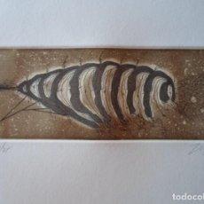 Arte: ZUSH (BARCELONA 1946) (ALBERT PORTA MUÑOZ) GRABADO DE 6,5X17 EN PAPEL 20X35 FIRMADO LÁPIZ Y 50/75. . Lote 145502474