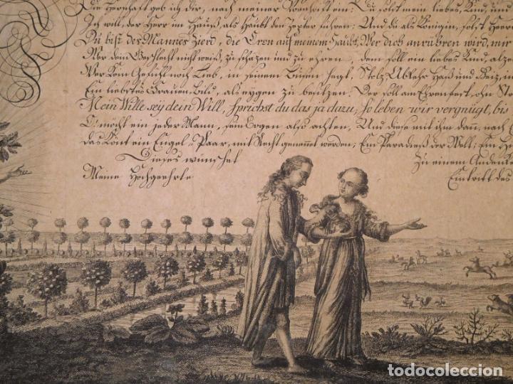 Arte: PRECIOSO GRABADO AL AGUAFUERTE DE ADAN Y EVA POR HEINRICH HUGO COENTGEN (1727-1792)ALREDEDOR DE 1770 - Foto 5 - 145522162