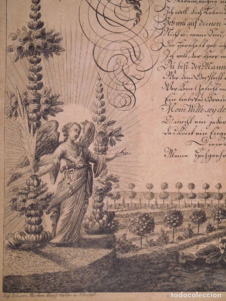 Arte: PRECIOSO GRABADO AL AGUAFUERTE DE ADAN Y EVA POR HEINRICH HUGO COENTGEN (1727-1792)ALREDEDOR DE 1770 - Foto 6 - 145522162