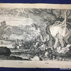 Arte: GRABADO FRANCES S XVII MARS AVRIL DREVET EXCUDIT MESES AÑO ESTACIONES 21,5X29CMS. Lote 145544146