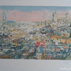 Arte: JULIAN GRAU SANTOS (HUESCA 1937) GRAB COLOR TOLEDO 32X51 PAPEL 56X76CMS FIRMADO /250 CERTIFICADO . Lote 145718830
