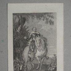 Arte: PRECIOSO GRABADO EN PLANCHA DE COBRE DE FRANCESCO MONCADA A CABALLO, ALREDEDOR DE 1790. Lote 145756078