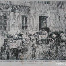 Arte: MADRID - EXTERIOR DE LAS OFICINAS DE EL IMPARCIAL (1879). Lote 145911246