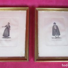 Arte: DE MUSEO! GRABADOS 1825 JOSE RIBELLES LABRADOR Y LABRADORA DEL REYNO DE VALENCIA. Lote 146068950