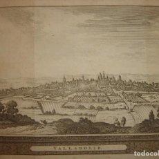 Arte: GRABADO VISTA VALLADOLID, CASTILLA LA VIEJA, ORIGINAL,1715, VAN DER AA,ESPLÉNDIDO. Lote 146159842