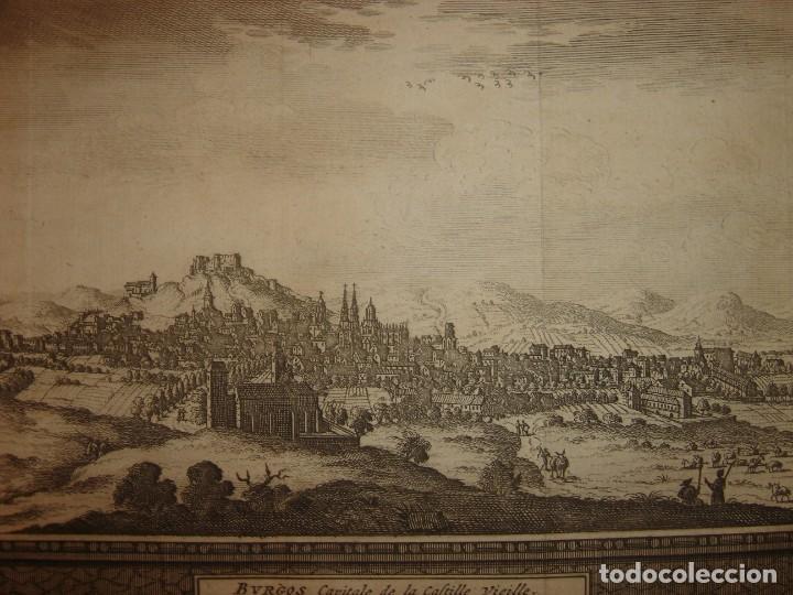 GRABADO VISTA BURGOS, CASTILLA LA VIEJA, ORIGINAL,1715, VAN DER AA,ESPLÉNDIDO (Arte - Grabados - Antiguos hasta el siglo XVIII)