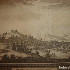 Arte: GRABADO VISTA BURGOS, CASTILLA LA VIEJA, ORIGINAL,1715, VAN DER AA,ESPLÉNDIDO. Lote 146160222