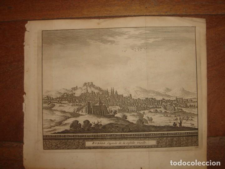Arte: GRABADO VISTA BURGOS, CASTILLA LA VIEJA, ORIGINAL,1715, VAN DER AA,ESPLÉNDIDO - Foto 2 - 146160222