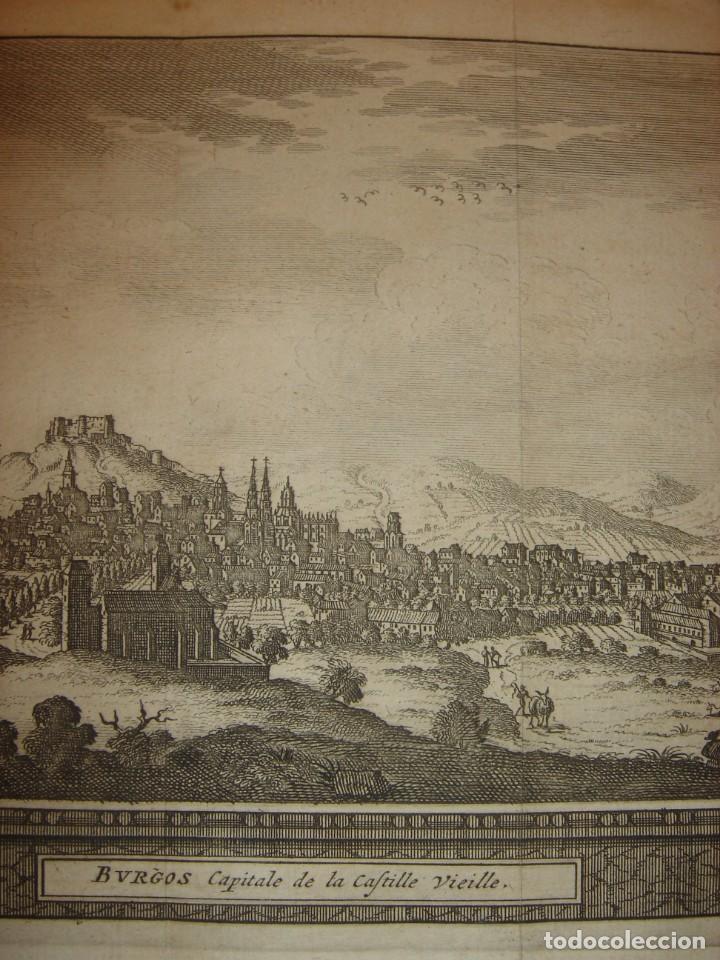 Arte: GRABADO VISTA BURGOS, CASTILLA LA VIEJA, ORIGINAL,1715, VAN DER AA,ESPLÉNDIDO - Foto 5 - 146160222