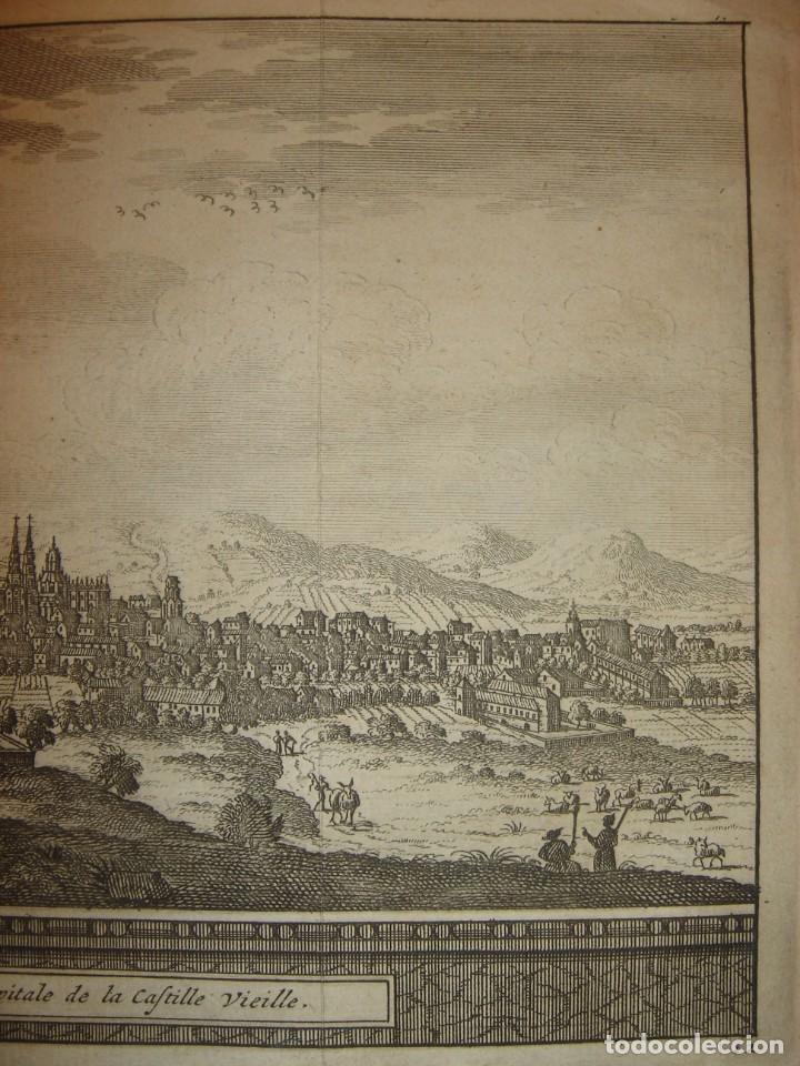 Arte: GRABADO VISTA BURGOS, CASTILLA LA VIEJA, ORIGINAL,1715, VAN DER AA,ESPLÉNDIDO - Foto 6 - 146160222