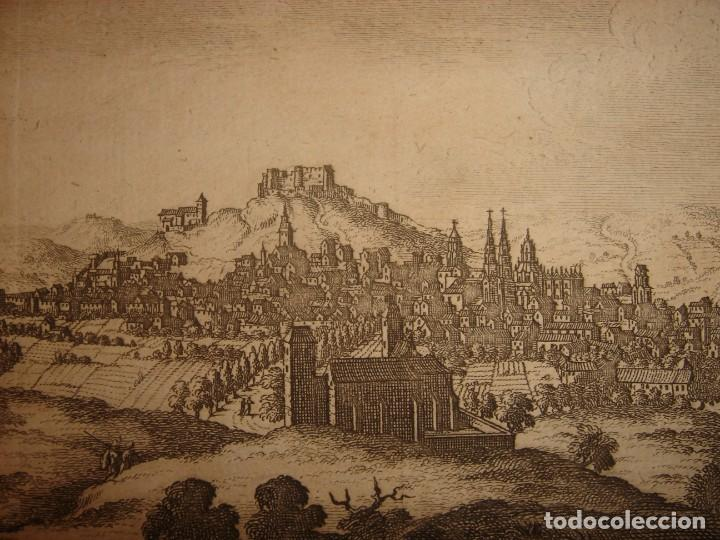 Arte: GRABADO VISTA BURGOS, CASTILLA LA VIEJA, ORIGINAL,1715, VAN DER AA,ESPLÉNDIDO - Foto 7 - 146160222