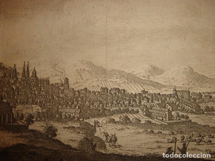 Arte: GRABADO VISTA BURGOS, CASTILLA LA VIEJA, ORIGINAL,1715, VAN DER AA,ESPLÉNDIDO - Foto 8 - 146160222