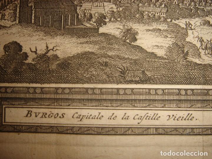 Arte: GRABADO VISTA BURGOS, CASTILLA LA VIEJA, ORIGINAL,1715, VAN DER AA,ESPLÉNDIDO - Foto 9 - 146160222