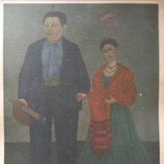 Arte: FRIDA KAHLO GRABADO ORIGINAL FIRMADO A LAPIZ,FRIDA Y DIEGO RIVERA, 29X20 CMS. Lote 146346882