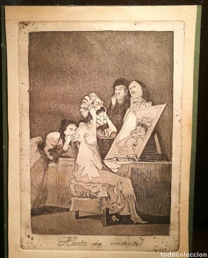 HASTA LA MUERTE. VERSION RARA DEL CAPRICHO DE GOYA (Arte - Grabados - Modernos siglo XIX)