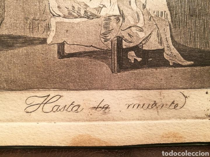 Arte: HASTA LA MUERTE. VERSION RARA DEL CAPRICHO DE GOYA - Foto 3 - 146405612