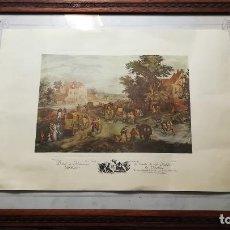 Arte: BONITO GRABADO LITOGRAFIA ANTIGUA TAMAÑO 46 X 33 CMS. Lote 146706274