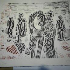 Arte: GRABADO AL LINOLEO DE VICTOR CASAS JULIAN. OBRA NUMERA CON CERTIFICADO ORIGEN. Lote 146758418