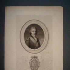 Arte: GRABADO S.XIX.(1805).CHARLES PHILIPPE DE FRANCE .. Lote 146762194