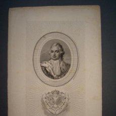 Arte: LUIS XVIII REY DE FRANCIA Y DE NAVARRA.GRABADO SIGLO XIX.AÑO 1805.. Lote 146762906