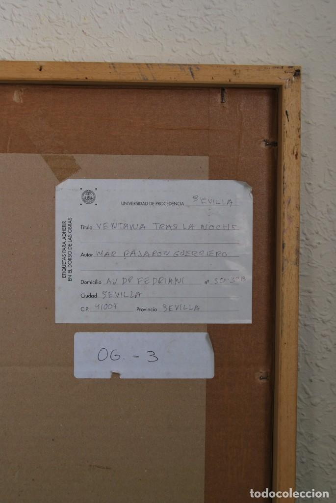Arte: GRABADO DE MAR PAJARÓN GUERRERO - VENTANA TRAS LA NOCHE - Foto 6 - 146791062