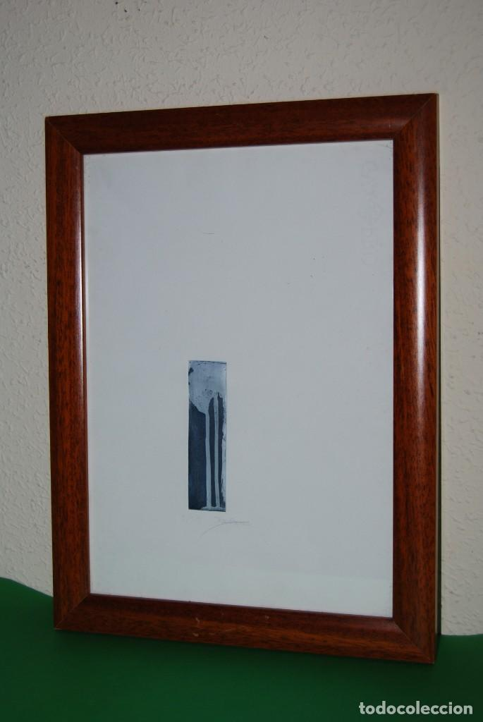 GRABADO DE MAR PAJARÓN GUERRERO - NATURALEZA (Arte - Grabados - Contemporáneos siglo XX)
