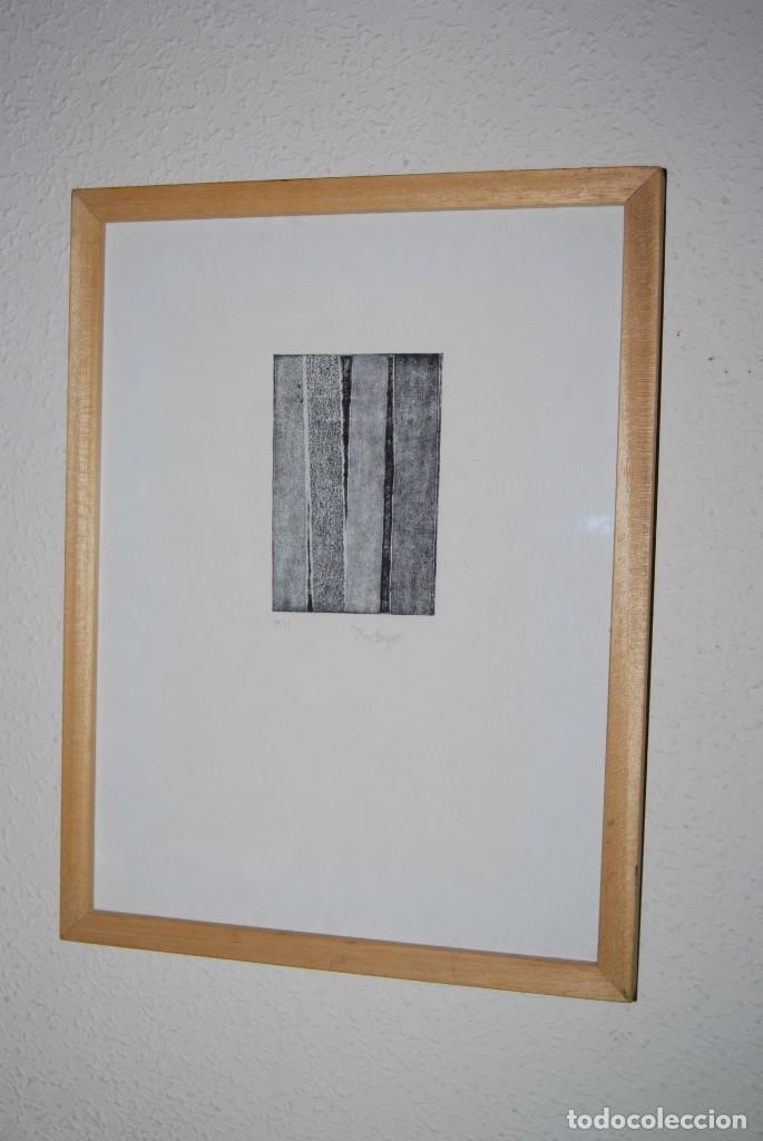 GRABADO DE MAR PAJARÓN GUERRERO - TRONCOS (Arte - Grabados - Contemporáneos siglo XX)