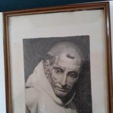 Arte: GRABADO DE SAN BRUNO DE PEREYRA. CARTUJA DE NTRA SEÑORA DE MIRALORES. FDO POR UN Hº CARTUJO. Lote 146869734
