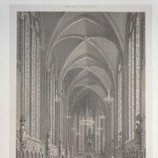 Arte: VISTA DEL INTERIOR DE LA SANTA CAPILLA, (PARÍS, FRANCIA), HACIA 1865. BENOIST/CHARPENTIER. Lote 147099790
