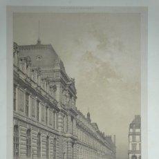 Arte: GRAN VISTA DE LA FACHADA DEL MUSEO DEL LOUVRE (PARÍS, FRANCIA), 1865. BENOIST/CHARPENTIER. Lote 147100958