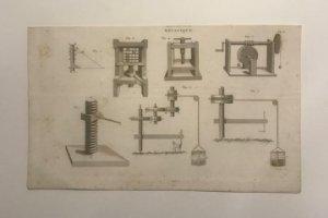 Grabado antiguo Artes Mecánicas. Francia. Siglo XVII.
