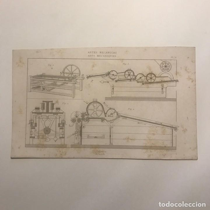 GRABADO ARTES MECÁNICAS. FRANCIA. SIGLO XVII. 14X23 CM (Arte - Grabados - Contemporáneos siglo XX)