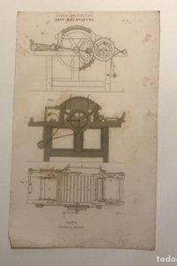 Grabados antiguos Artes mecánicas. Francia. Siglo XVII.