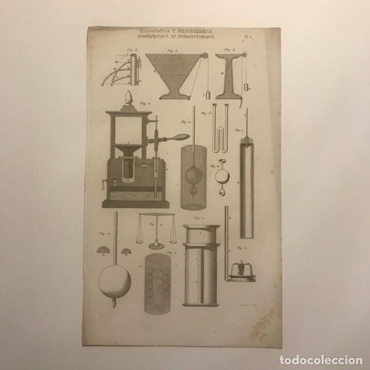 GRABADO HIDROSTÁTICA Y HIDRODINÁMICA. FRANCIA. SIGLO XVII. 14X23 CM (Arte - Grabados - Contemporáneos siglo XX)
