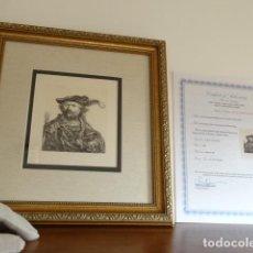 Arte: AUTÉNTICO GRABADO DE REMBRANDT, FIRMADO CON CERTIFICADO DE AUTENTICIDAD, ENMARCADO- LIQUIDACIÓN !!!!. Lote 147476622