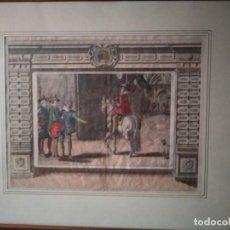 Arte: EXQUISITO GRABADO FRANCÉS A DOS PLANCHAS COLOREADO A MANO. Lote 147558562