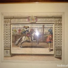 Arte: EXQUISITO GRABADO FRANCÉS A DOS PLANCHAS COLOREADO A MANO. Lote 147558738